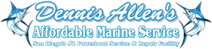Dennis Allens Affordable Marine Service Logo NS cr 768-178