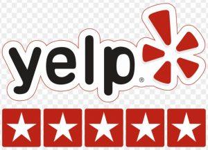 Yelp 5 stars transparent